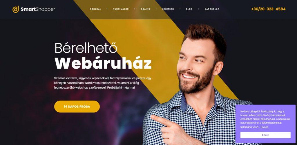 Olcsó bérelhető webáruház