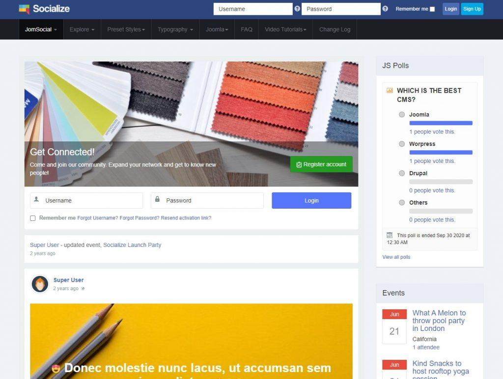 Közösségi oldal létrehozása